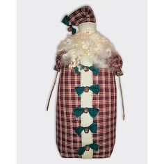 Santa Claus Craft Patterns | primitive 16 inch freestanding santa claus doll santa has a boxed and ...