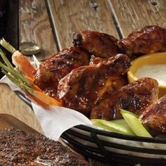 Cola Hot Wings  http://www.tasteofhome.com