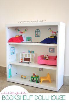 Simple Bookshelf Dollhouse | Mama.Papa.Bubba.