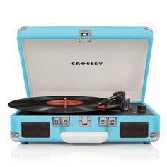 Bring your music anywhere with this portable turntable.