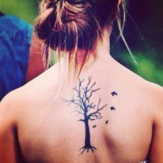 Tree/bird tattoo