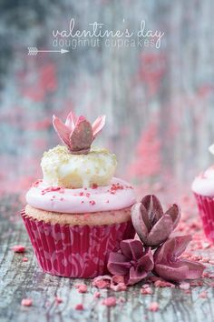 Valentine's Day Doughnut Cupcakes Recipe
