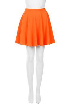 Orange skirt, topshop £28