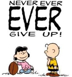 We can make a difference. Never give up believing that we can.