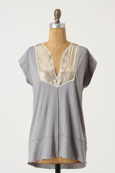 from anthropologie -- a rough-hewn placket