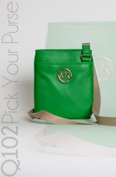 Michael Kors - Fulton Crossbody in Palm Green.   Go to wkrq.com to find out how to play Q102's Pick Your Purse!