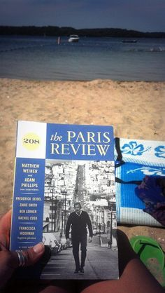 Reading The Paris Review on the beach in Cape Cod #readeverywhere