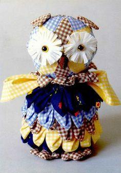 DIY Fabric owl Pinned by www.myowlbarn.com