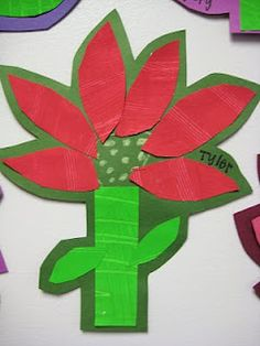 1st grade Poinsettias | Dali's Moustache