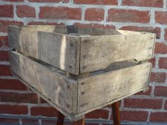 "1/2 bushel apple crate, generic.  Stamp it yourself with ""Ambrose Lighton, Ltd. Kirton, Boston"" to match Sherlock's move-in crate from ASiP. £25.00"