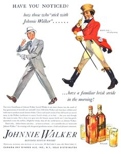 Vintage Johnnie Walker Ad stick, style, jonni walker, drink, scotch whiskey, walker red, vintag ad, 酒johnni walker, red black