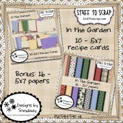card idea, recip card, recipe cards, garden recipes