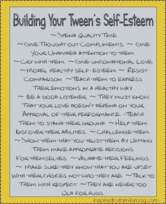 Self-Esteem: Activities for Building Your Tweens Self-Esteem | Inspired by FamiliaInspired by Familia