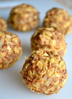 Coconut & Honey No-Bake Energy Bites. And there's no sugar or gluten! Great snacks for on the go!