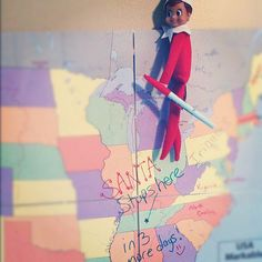 Elf on the Shelf - everyone loves a map