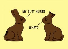 Haha(: Those poor chocolate bunnies(: