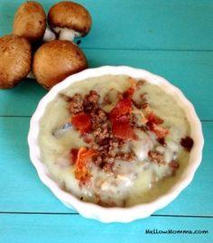 Creamy Mushroom Burger Soup » Mellow Momma  #21dsd #soup #mushrooms