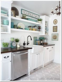 love the shelves above the sink