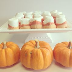 Halloween treat ideas - candy corn marshmallows