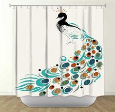 Peacock bathroom on pinterest shower curtains peacock for Peacock bathroom design