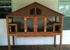 Pet rabbit cage idea.