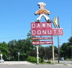 I wonder what happened to the donut guy. How cool would he be hanging on a brick wall somewhere.