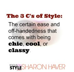 The 3 C's of Style... Business Style Tips - Is it cool to flaunt designer labels as part of your personal business brand  Read more: http://www.focusonstyle.com/stylist-advice/flaunt-designer-labels-part-business-brand/