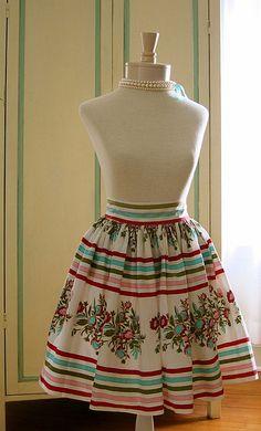 Vintage apron... Love the fabric!!!