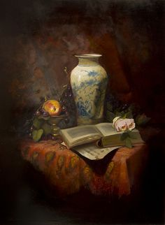 Reading Music by Christine Hooker Oil ~ 24 x 18
