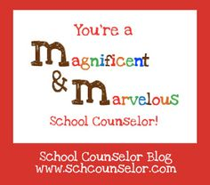 School Counselor Blog: M (Magnificent and Marvelous) School Counselor Printable
