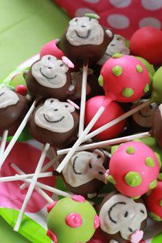 Monkey cake pops #monkey #cakepops