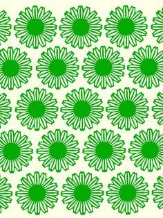 Vintage Flower_Green - Art Print by Garima Dhawan/Society6