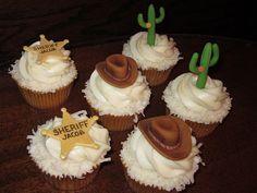 Western Cowboy Cupcakes.