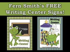 Fern's Freebie Friday ~ Froggy September and October Writing Center Signs! #FREE #TPT #TeachersFollowTeachers #FernSmithsClassroomIdeas