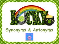 A free synonyms and antonyms game from Fun 2B in First