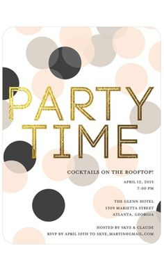 Gold type | Amazing invitations from Tiny Prints!