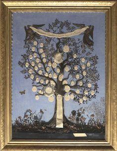 Arbre généalogique fait avec des cheveux,  par Elisa Polazzi - Maison Bonaparte devenue Impériale de France | Ajaccio - musée de la maison Bonaparte