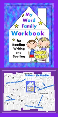 Word Family Workbook - A WONDERFUL tool for emergent readers to use for learning to read, write, and spell!    Learning to spell and read words in family groups has long been proven to help make fluent readers and writers.  $