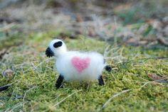 Felted Sheep Love Ewe Love You Easter Lamb by BondurantMountainArt, $7.00