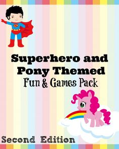 *FREE* Superhero and Pony Themed Fun and Games Pack - Frugal Homeschool Family