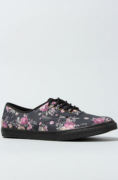 The Authentic Lo Pro Sneaker in Black Floral by Vans Footwear