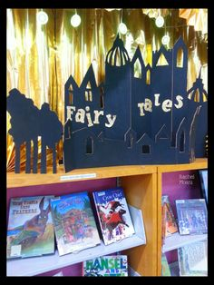 Fairy Tale Library Book Display. Also, for realsies, come be my boss, all you awesome children's librarians. Senior Youth Services Librarian position now open at the Lacey branch of the Timberland Regional Library