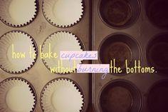 bake cupcak, cupcakes, bottom, mad food, cupcake pan, food scienc, burn