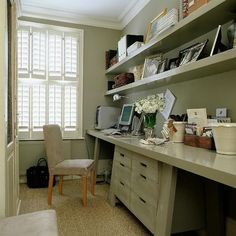 desk space, floating shelves, office rooms, wall shelving, repurposed furniture, study rooms, small spaces, office decorations, home offices