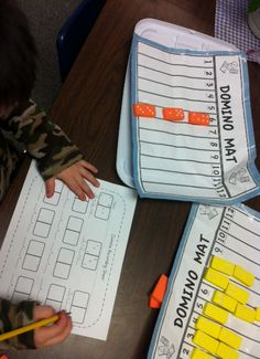 Composing numbers with dominoes