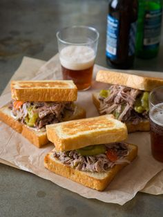 Slow Cooker Pickled Pulled Pork Sandwiches | Spoon Fork Bacon