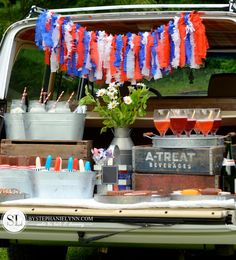Tailgate Ice Cream Party | Neighborhood Summer Ice Cream Social Ideas