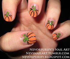 Pumpkin Nails makeup-and-nails
