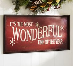 Its the Most Wonderful Time of the Year Sign | Pottery Barn