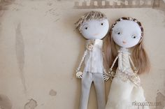 "Art Dolls ""Bride & Groom"""